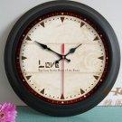 "15""H Retro Style Metal Wall Clock - YGMW(BOLI042GXB)"