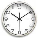 "12"" Modern Style Wall Clock in Stainless Steel - TUMA(J307S)"