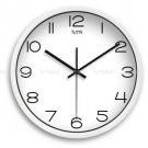 "12"" Modern Style Wall Clock in Stainless Steel - TUMA(J307W)"