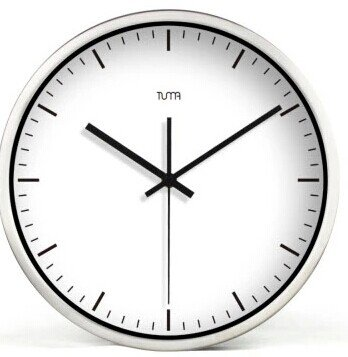"""12"""" Modern Style Wall Clock in Stainless Steel - TUMA(BZ115S)"""