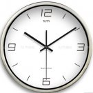 "12"" Modern Style Wall Clock in Stainless Steel - TUMA(BT204S)"