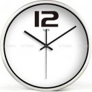 "12"" Modern Style Wall Clock in Stainless Steel - TUMA(BZ109S)"