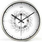 "12"" Modern Style Wall Clock in Stainless Steel - TUMA(BZ117S)"