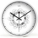 "12"" Modern Style Wall Clock in Stainless Steel- TUMA(BZ117W)"