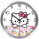 "10"" Cartoon Style Wall Clock in Stainless Steel-FEITAO(KT337S)"