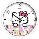 "10"" Cartoon Style Wall Clock in Stainless Steel-FEITAO(KT337W)"
