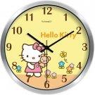 "10"" Cartoon Style Wall Clock in Stainless Steel-FEITAO(KT354S)"