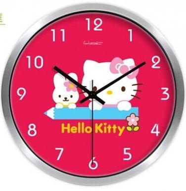 "10"" Cartoon Style Wall Clock in Stainless Steel-FEITAO(KT324S)"