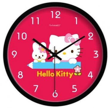 "10"" Cartoon Style Wall Clock in Stainless Steel-FEITAO(KT324B)"