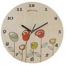 Originality Wall Clock Rose Garden Mute LC1091