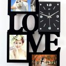 Wall Clock with Fashion Love Picture Frame Function Design - S131