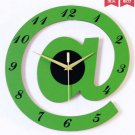 "12""Stylish Alphabet Decorative Wall Clocks - T2820G"