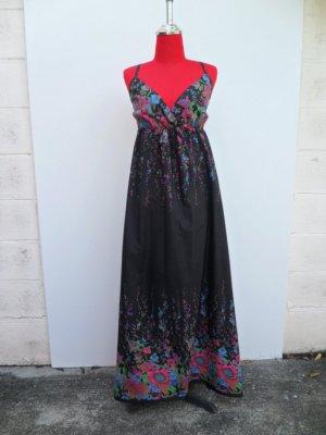 BLACK MAXI GYPSY HIPPIE SUN BOHO HIPPY DRESS