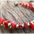 2 Line Coral Brass Bracelet