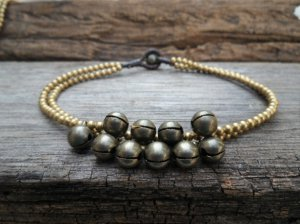 Brass Beads and Bell Anklet