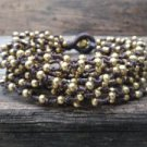 Brass Beads and Bell Chain Bracelet