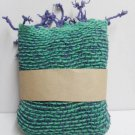 Purple and Green  Cotton 100% Scarf
