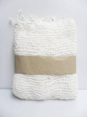 White  Cotton 100% Scarf