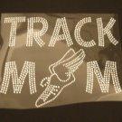 Track Mom Rhinestone Crystal Shirt