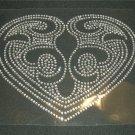 Huge Heart Le Fleur Crystal Rhinestone Shirt