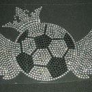 Soccer Ball with Wings Rhinestone Crystal Shirt