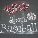 Wild About Baseball, Basketball, Football, Volleyball, Soccer Crystal Rhinestone Shirt