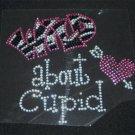 Wild about Cupid Crystal Rhinestone Shirt