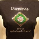 Diamonds are a Girls Best Freind Crystal Rhinestone Shirt
