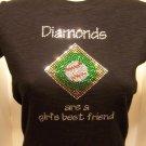 Diamonds are a Girls Best Freind Crystal Rhinestone Shirt