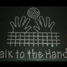 Talk to the Hands Volleyball Crystal Rhinestone Shirt