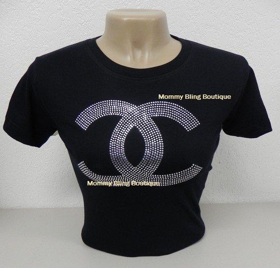 BEAUTIFUL Interlocking C's Rhinestone Shirt