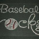 Baseball Rocks Crystal Rhinestone Shirt