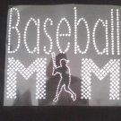 NEW Baseball Mom w/shilloutte Baseball Boy Crystal Rhinestone Shirt