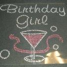 Adult Birthday Girl Crystal Rhinestone Shirt