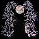 Baseball Angel with Wings Crystal Rhinestone Shirt