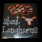 Wild About Longhorns Crystal Rhinestone Shirt