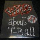 Wild About T-Ball Crystal Rhinestone Shirt