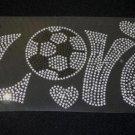 Love Soccer Crystal Rhinestone Shirt
