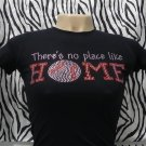 Baseball There is No Place Like Home Crystal Rhinestone Shirt