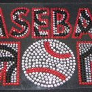 Zebra Print Baseball Mom Crystal Rhinestone Shirt