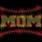 Softball Mom with Stiching Crystal Rhinestone Shirt