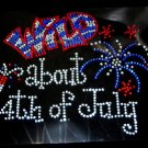 Wild About 4th of July Crystal Rhinestone Shirt