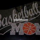 Basketball Mom Tail Crystal Rhinestone Shirt