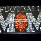Football Mom Football Crystal Rhinestone Shirt