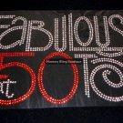 Fabulous at 50 Crystal Rhinestone Shirt