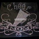 Cheer Mom Banner Crystal Rhinestone Shirt