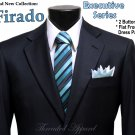 New Firado Men's Executive Series Wool Suit - Navy 2 Button - Available in all sizes