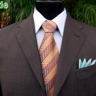 New Palasso Mens Suit - 100% Merino Wool - MADE IN ITALY- Brown