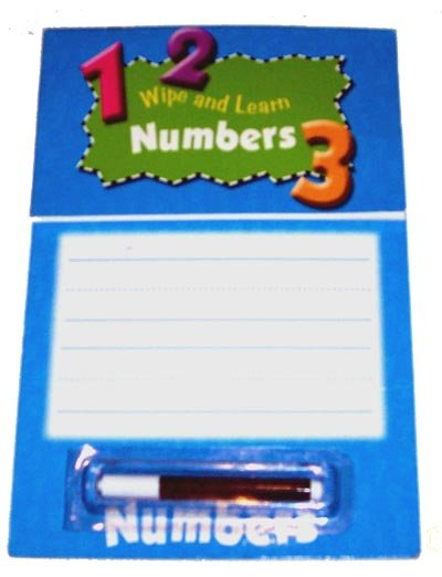 PRESCHOOL - Wipe and Learn Board NUMBERS