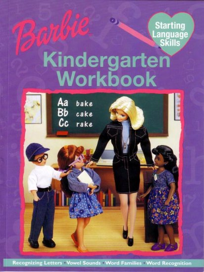 KINDERGARTEN - Starting Language Skills BARBIE Workbook